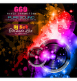 Disco Night Club Flyer layout with music themed vector image vector image