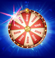 fortune wheel poster spinning lucky vector image vector image