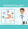 gastrointestinal health flat vector image vector image