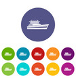 great powerboat set icons vector image vector image