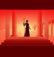 greek gods and goddess hera vector image vector image