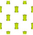 green trash bin pattern seamless vector image vector image