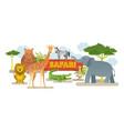 group african safari animals vector image