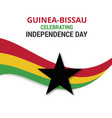 guinea bissau celebtraing independence day vector image