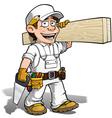 Handyman Carpenter Color it Yourself vector image vector image
