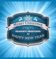 happy new year and merry christmas banner vector image vector image