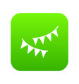 holiday flags icon digital green vector image