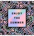 holographic summer background vector image