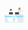 hospital front desk icon vector image vector image