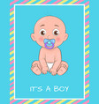 its boy poster dedicated to bashower day vector image