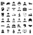 job search icons set simple style vector image vector image
