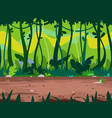 jungle path game background vector image vector image