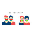 lesbian and gay couples in face mask lgbt pride vector image vector image