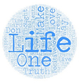 Life Is Wonderful text background wordcloud vector image vector image