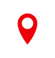 location pin red gps navigation icon vector image vector image