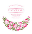 luxurious vintage card vector image vector image