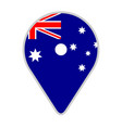 map pin with the flag of australia vector image