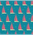marine seamless background with cartoon vector image