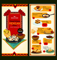 mexican restaurant cuisine menu vector image vector image