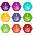 modern christmas ball icons set 9 vector image vector image