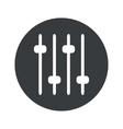 Monochrome round faders icon vector image vector image