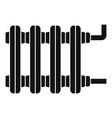 old home radiator icon simple style vector image vector image