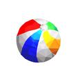 origami beach ball vector image vector image