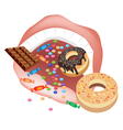 Person Eating Unhealthy Sweet Food vector image vector image