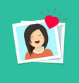 photo of love girl flat vector image