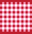 picnic checkered tablecloth pattern red and white vector image