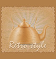 retro style poster old kettle vector image