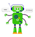 robot in flat style vector image vector image
