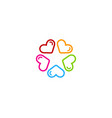 romance star logo icon design vector image vector image