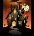 scene with halloween mansion 1 vector image vector image