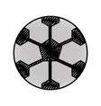 scribble soccer ball cartoon vector image vector image