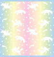 seamless pattern from white unicorns silhouette vector image vector image