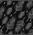seamless white sketch of jungle branches pattern vector image