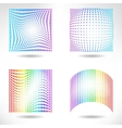set modern flat halftone backgrounds vector image vector image