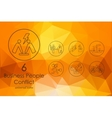 Set of business people conflict icons vector image vector image