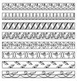 Set of ornamental borders-2 vector image