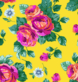 Sexy Pink Roses on Yellow background vector image vector image
