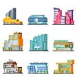 Shopping Mall Building Set vector image vector image