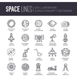 thin lines icons stars in galaxy design vector image vector image