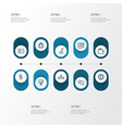 trade outline icons set collection of businessman vector image vector image