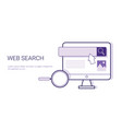 web search browsing business concept template web vector image