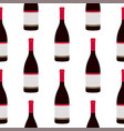 wine bottles seamless pattern vector image