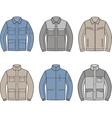 Work jacket set vector image vector image