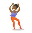 young african-american woman dancing vector image vector image