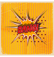 Cartoon Bang on a yellow background vector image