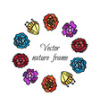 Floral wreath from beautiful colorful flowers vector image